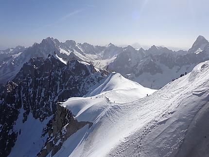 Vue de L'Aiguille du Midi