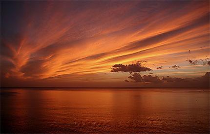Coucher de soleil caribéen