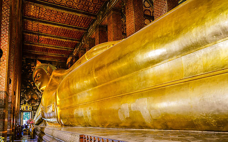 Bangkok : Wat Pho, massage et bouddha couché
