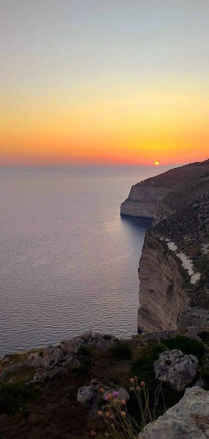 Sunset at cliffs of Dingli