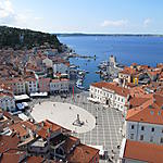 Piran depuis le clocher saint Georges
