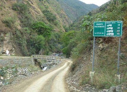 En piste pour le Machu Pichu, à Aguas Calientes