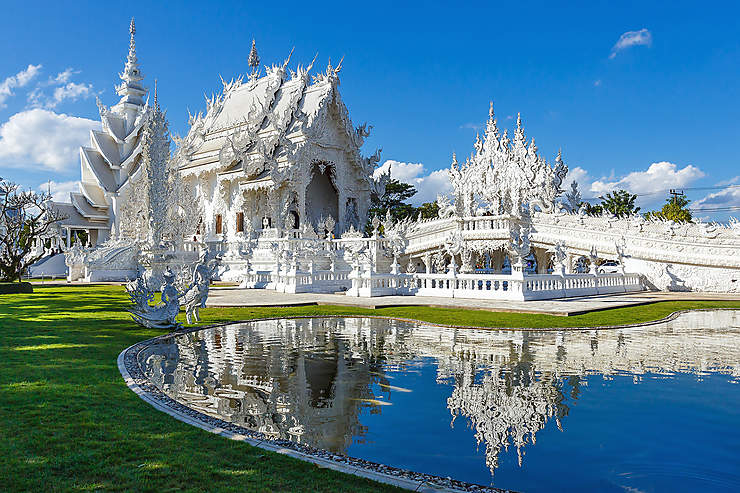Chiang Rai : Wat Rong Khun, le temple blanc