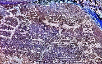 Chilas, sculptures rupestres