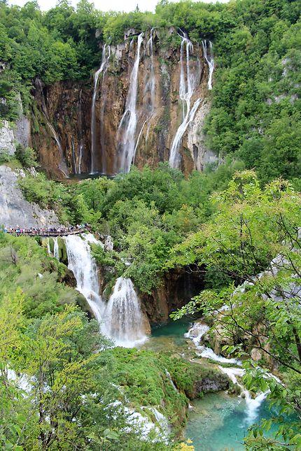 Cascade à Plitvice