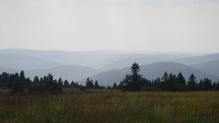 Panorama sur les Vosges, du Gazon du Faing