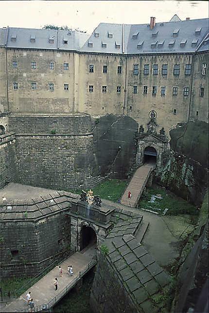 L'entrée de la forteresse de Königstein
