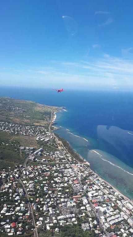 Survol de l'île de La Réunion en ULM