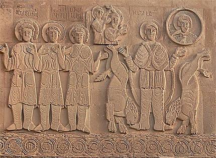Personnages bibliques sur une paroi de l'église d'Aghtamar