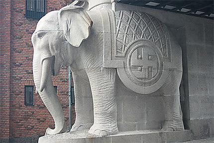 Un des quatre éléphants de la brasserie Carlsberg