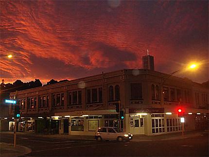 Coucher de soleil sur Napier