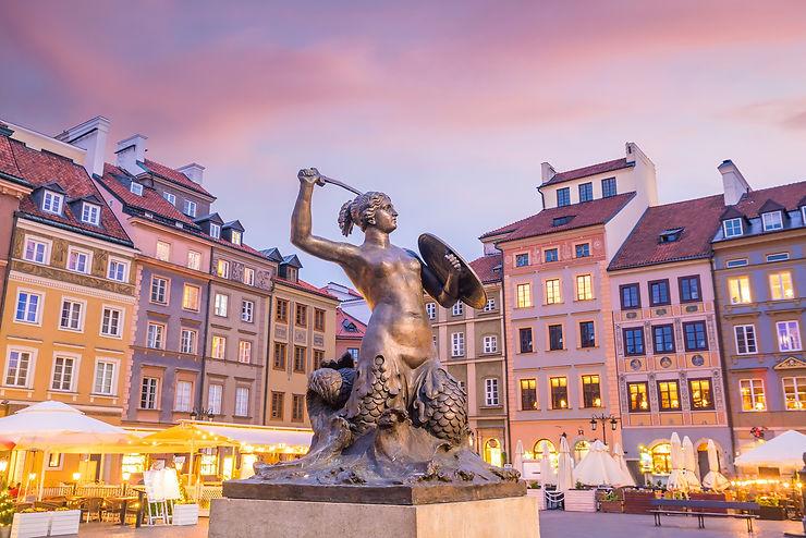 Vieille ville de Varsovie et voie royale