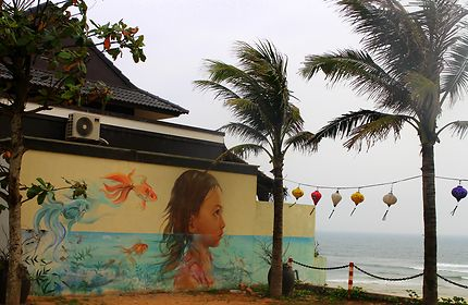Maison peinte à Tam Thanh