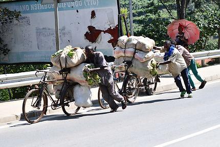 Vélos-taxis au Rwanda