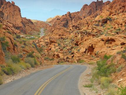 Traversée de la Vallée de feu, Nevada