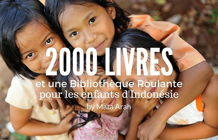 Humanitaire - 2 000 livres pour les enfants d'Indonésie