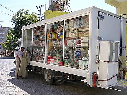 Vendeur ambulant à Pergame