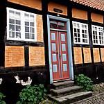 Maison colorée à Ebeltoft - vieille ville