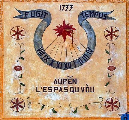 Cadran solaire à Bauduen