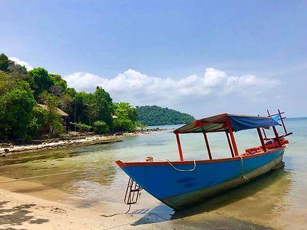 Bateau île de Koh Ta Kiev Cambodge