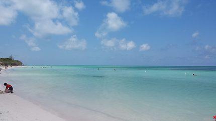Belle plage de Cayo Jutias à Cuba