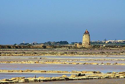 La côte entre Trapani et Marsalà