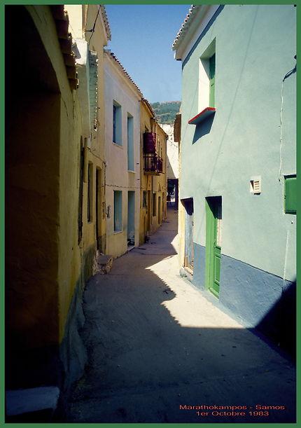 Village de Marathokampos à Samos