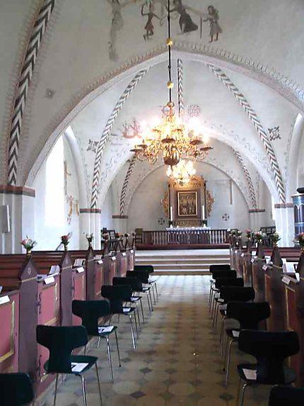Ebeltoft - intérieur de l'église
