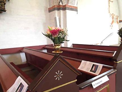 Mariage - église décorée à Ebeltoft