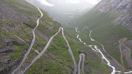 Vue sur la route des Trolls, Norvège