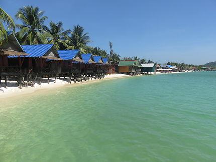 Une île paradisiaque au Cambodge