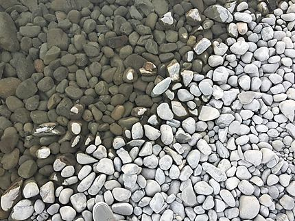 Les cailloux de Lac Tekapo