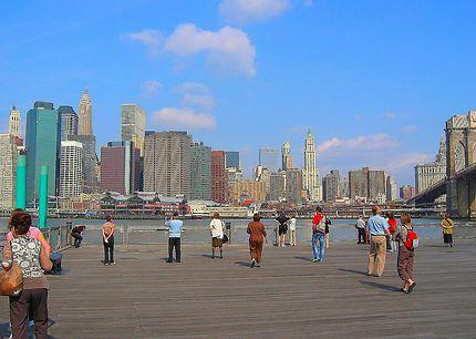Vue sur Manhattan, près de Brooklyn Bridge