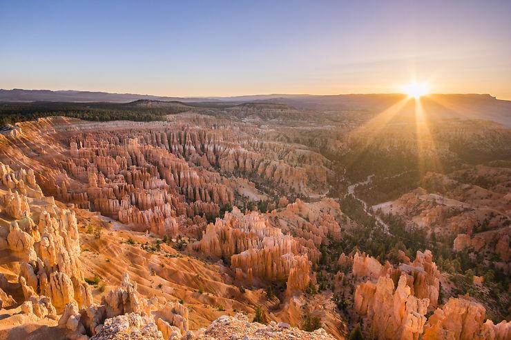 Lever de soleil à Bryce Canyon, Utah
