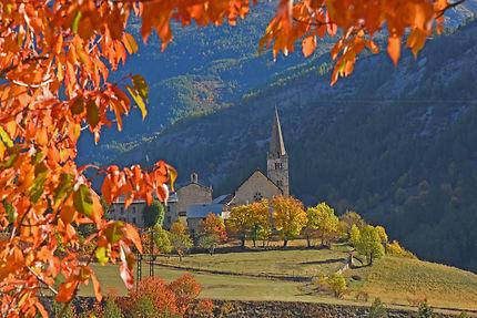 Village d'Ubaye en automne