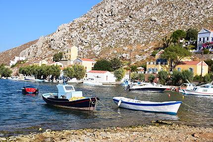 Port sur l'île de Symi