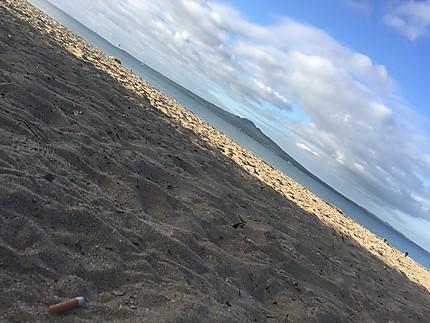 Ile Rangitoto depuis la plage Mission Bay