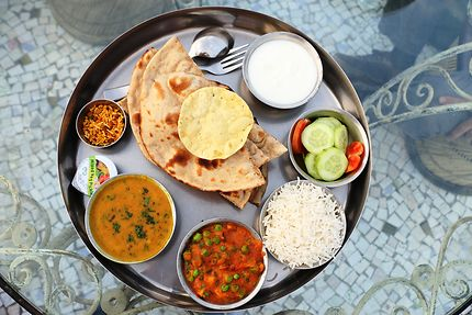 Thali, repas indien