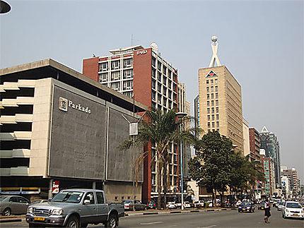 Le centre d'Harare