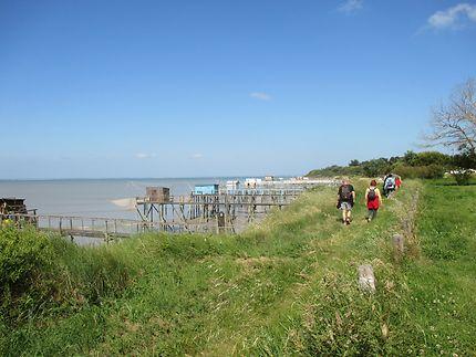 Chemin littoral - les carrelets de pêche