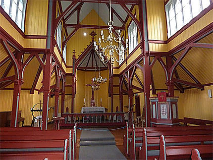 Intérieur de la nouvelle église de Borgund