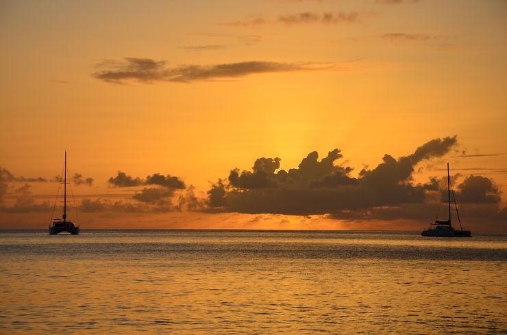 Coucher de soleil à Gibbs Bay, La Barbade