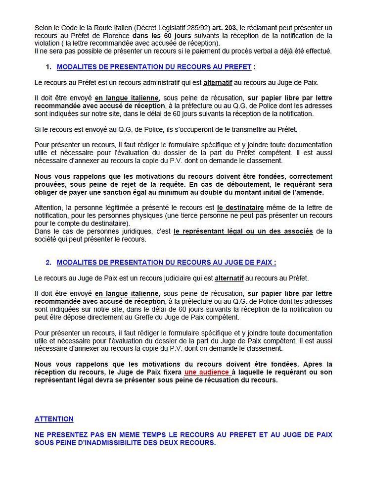 Marche A Suivre Si Pv Italie Notifie Officiellement Apres 360 Jours