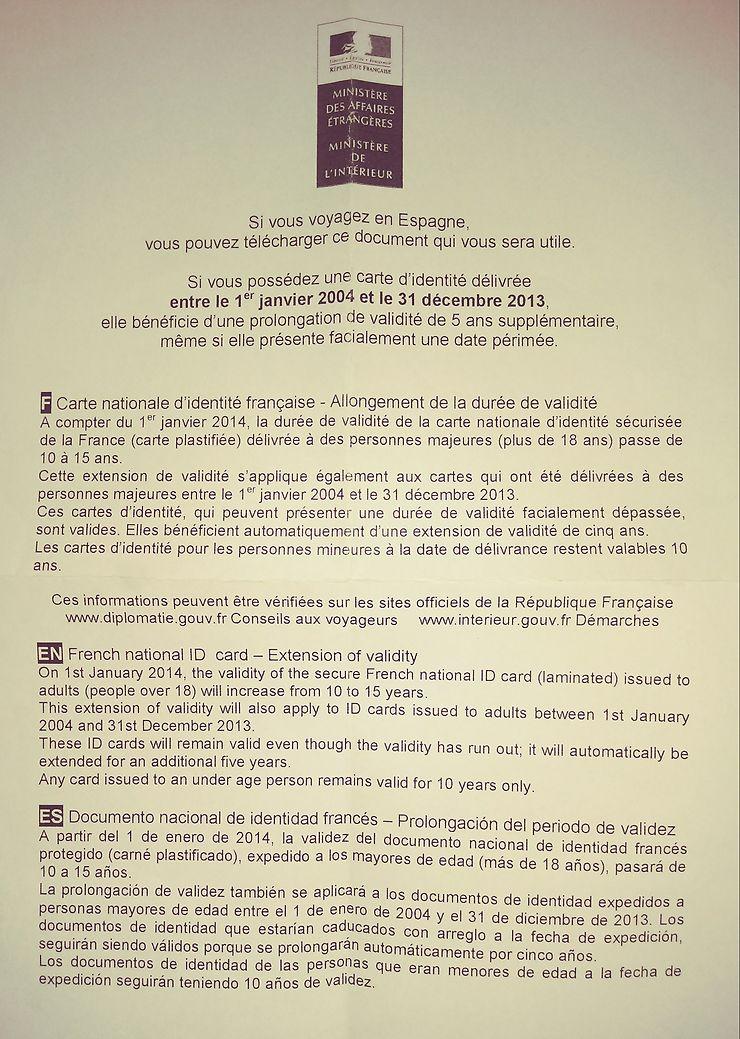 carte d identité périmée espagne Carte d'identité périmée avion et voyage aux Canaries : Forum