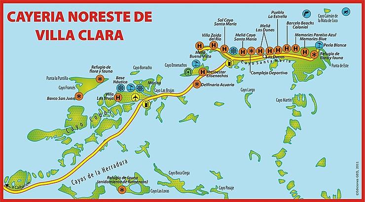 Carte Touristique Cuba Forum.Cayo Las Brujas Un Paradis Bientot Disparu Helas