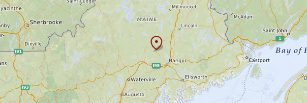 Carte Maine - États-Unis