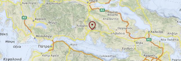 Carte Grèce centrale - Grèce