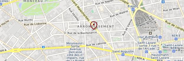 Carte 8ème arrondissement - Paris