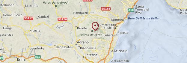 Carte Sicile ionienne - Sicile