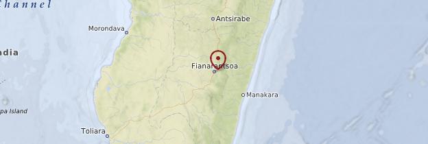 Carte Fianarantsoa et sa région - Madagascar